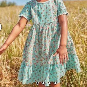 NEW $50 Mini Boden Floral Dress Prairie Boho 3-4Y